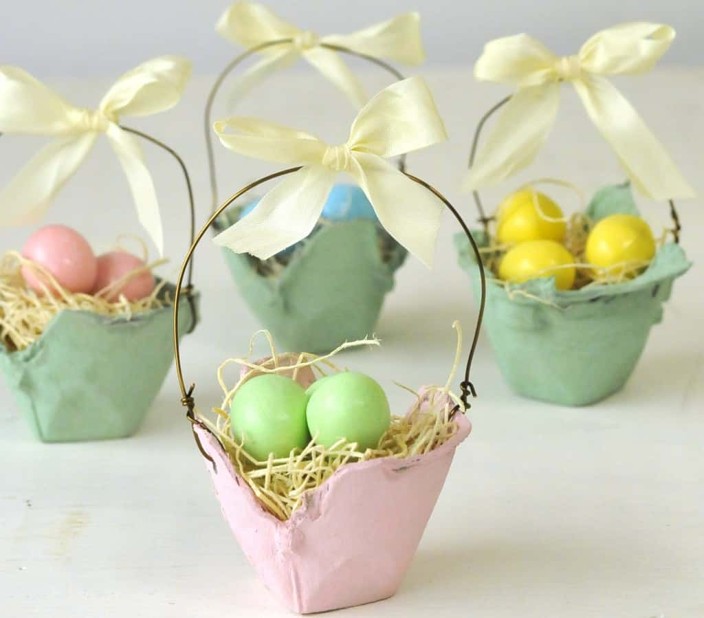Mini egg carton baskets