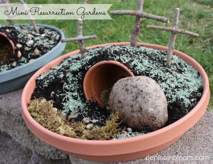 Mini ressurection easter garden