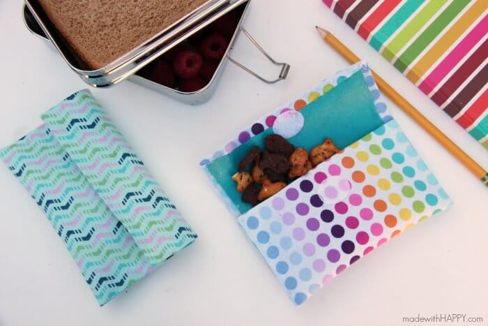 No sew reusable snack bag