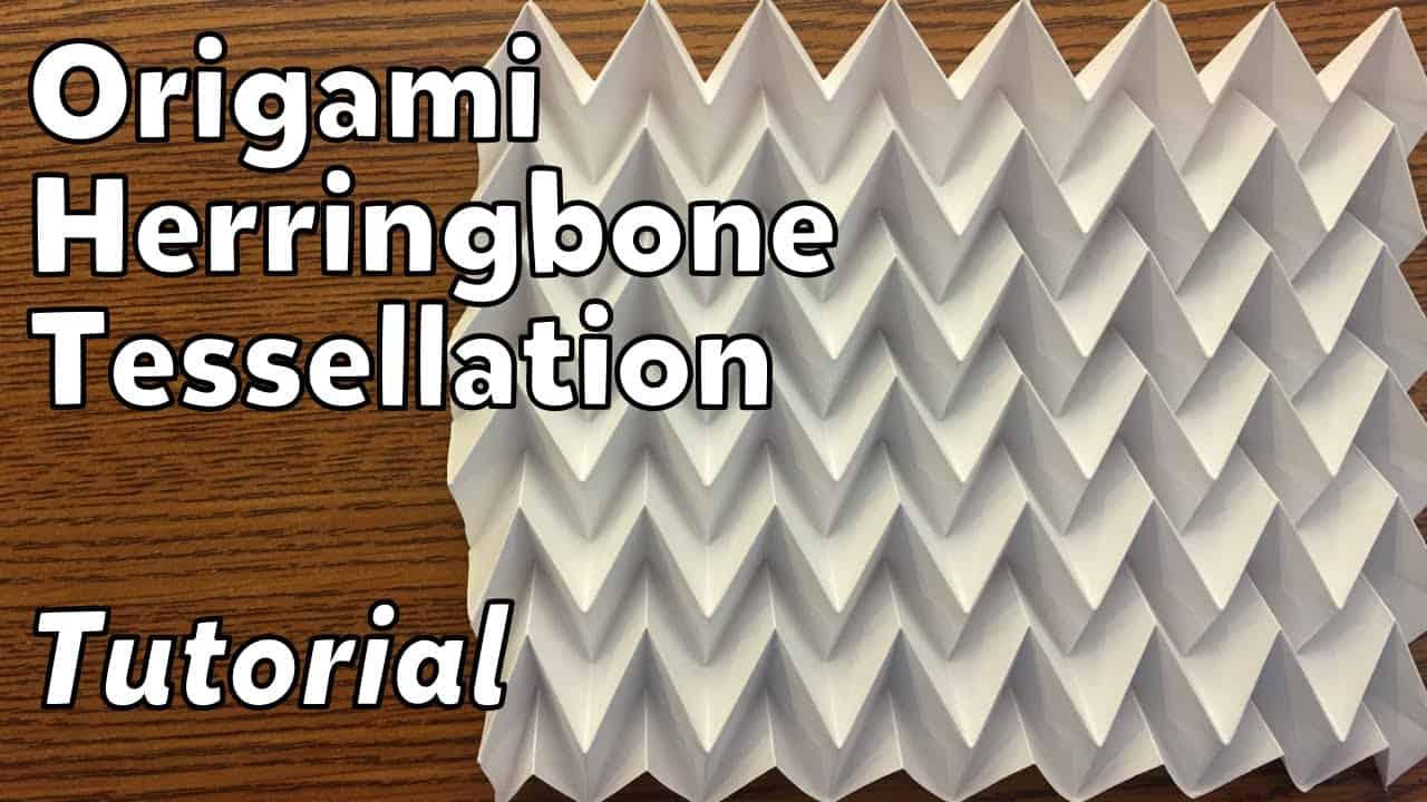 Origami herringbone tessellation