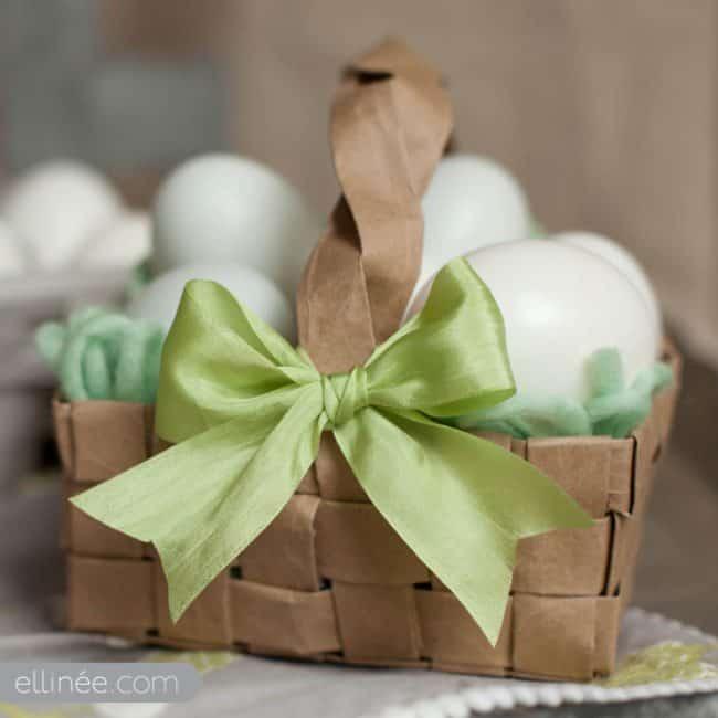 Paper grocery bag easter basket