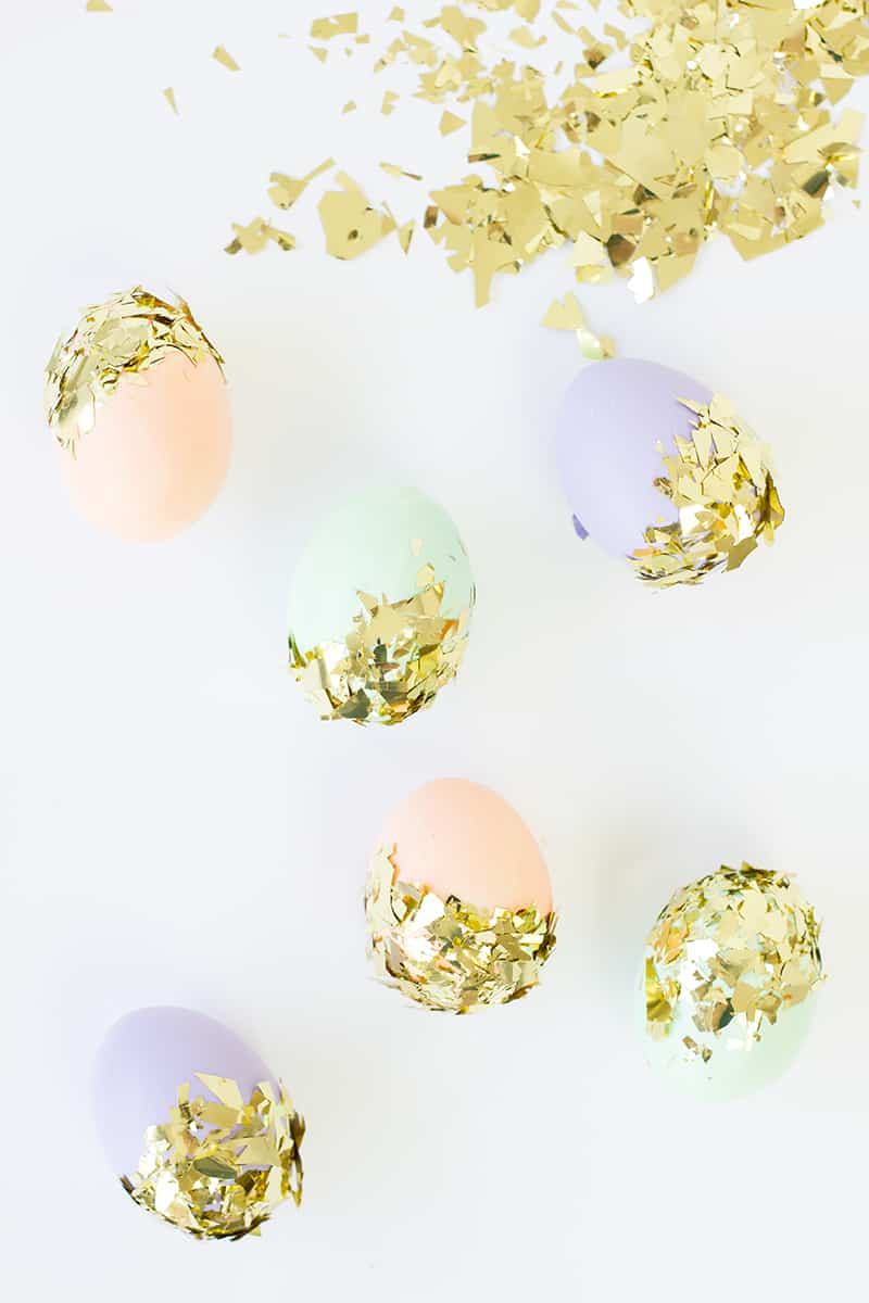 Pastel gold foiled easter eggs