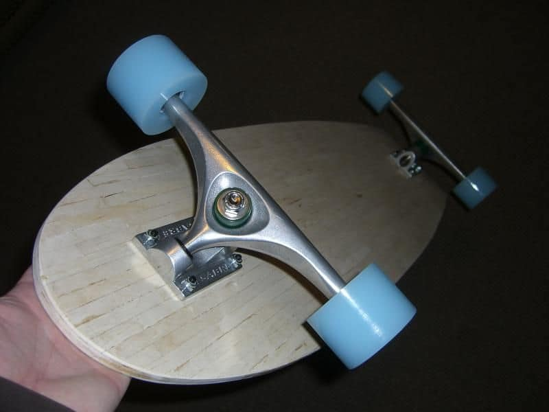 Popsickle stick longboard deck