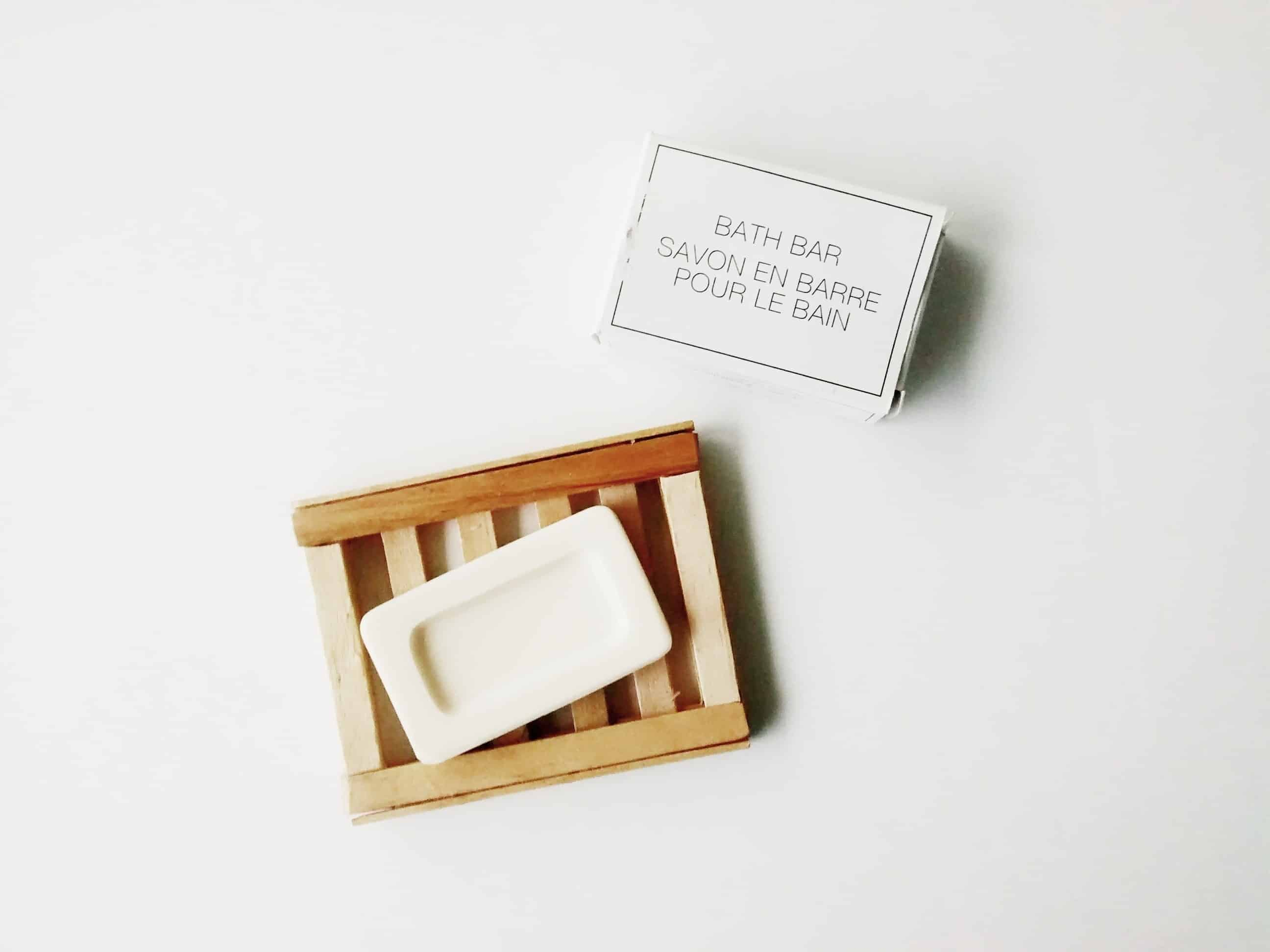 Popsicle stick soap dish