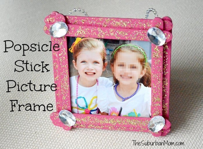 Popsucle stick photo frame