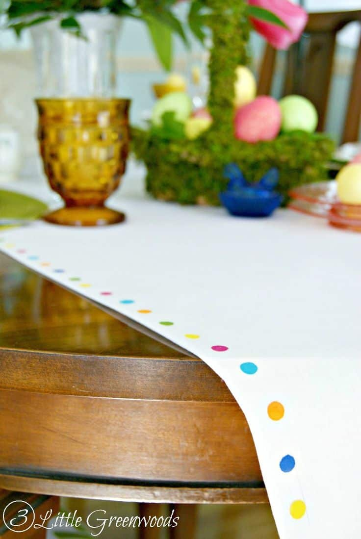 Pretty, no sew easter table runner