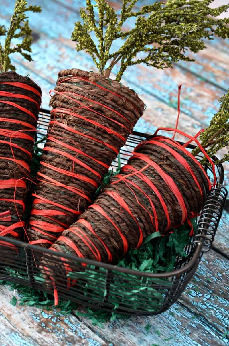 Rustic twine easter carrots