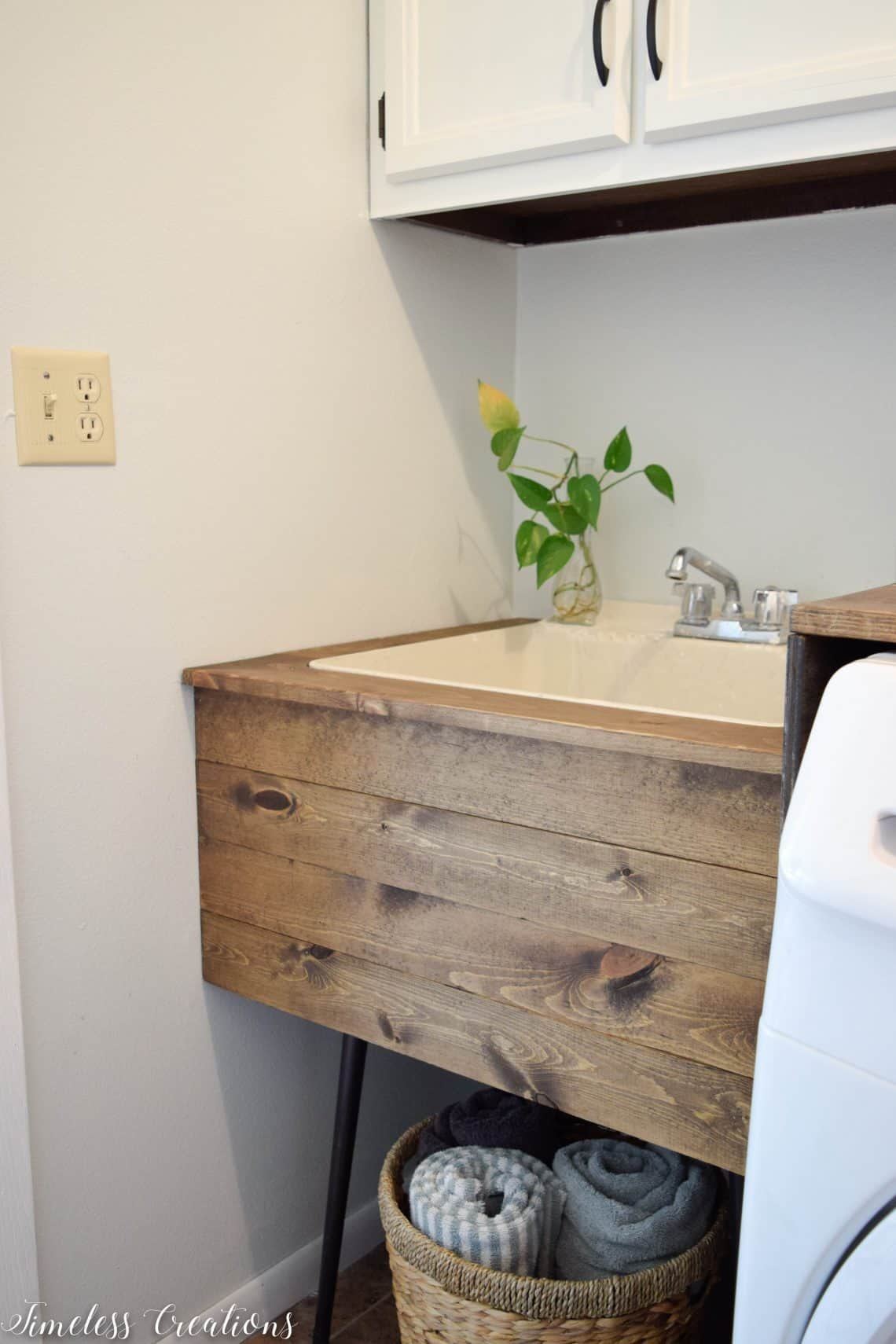 Rustic utility sink makeover