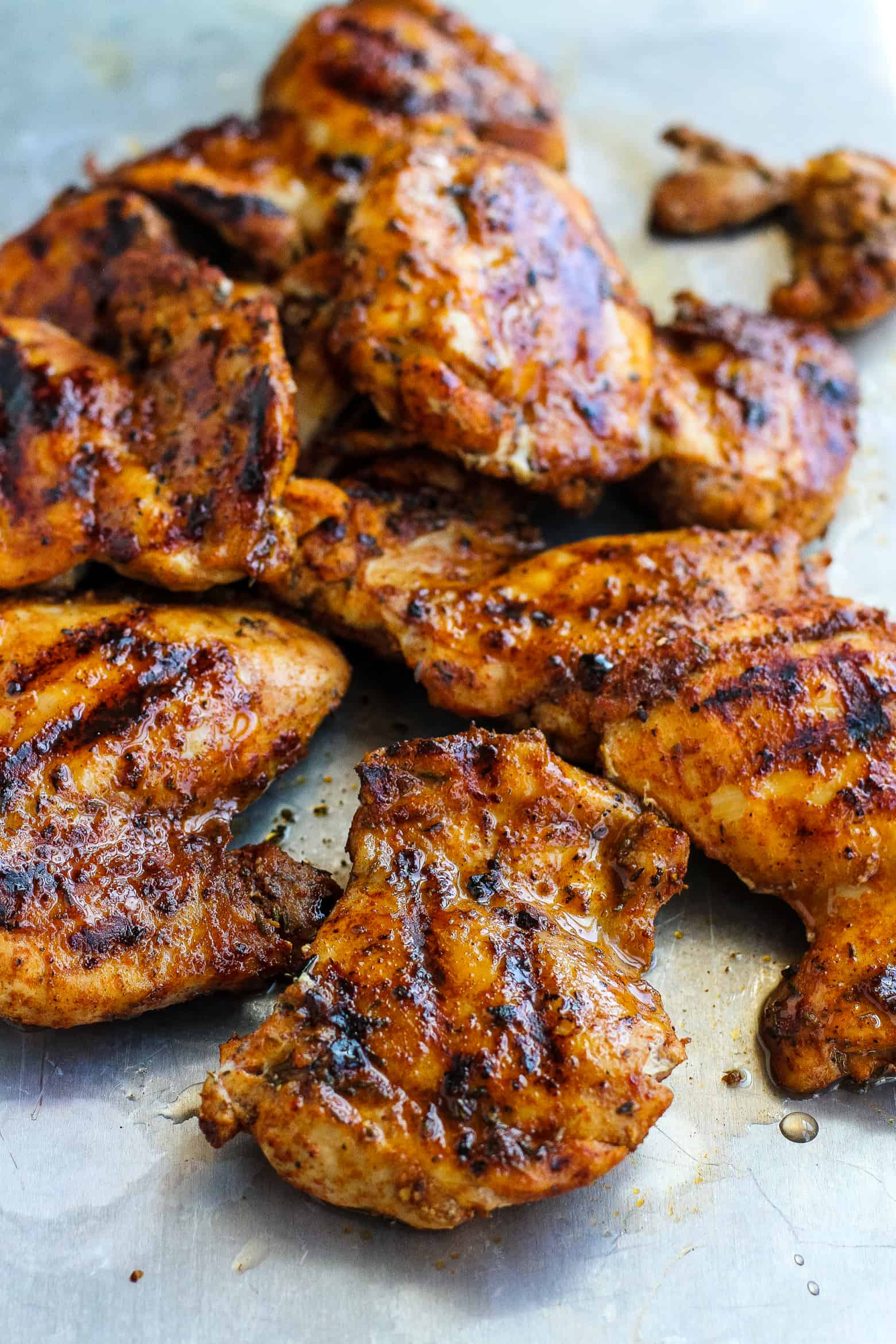 Spice rubbed grilled chicken