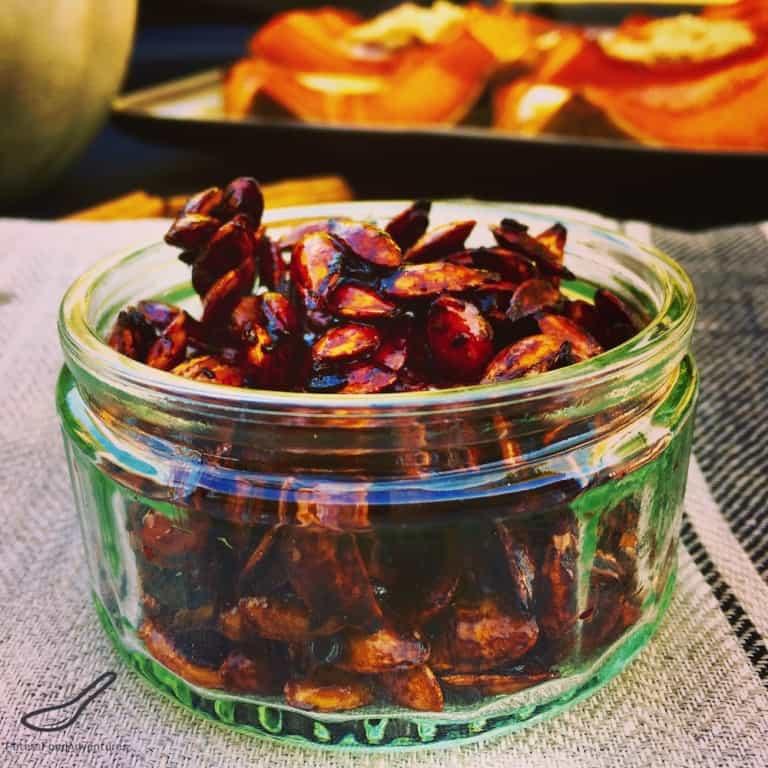 Sweet chili roasted pumpkin seeds