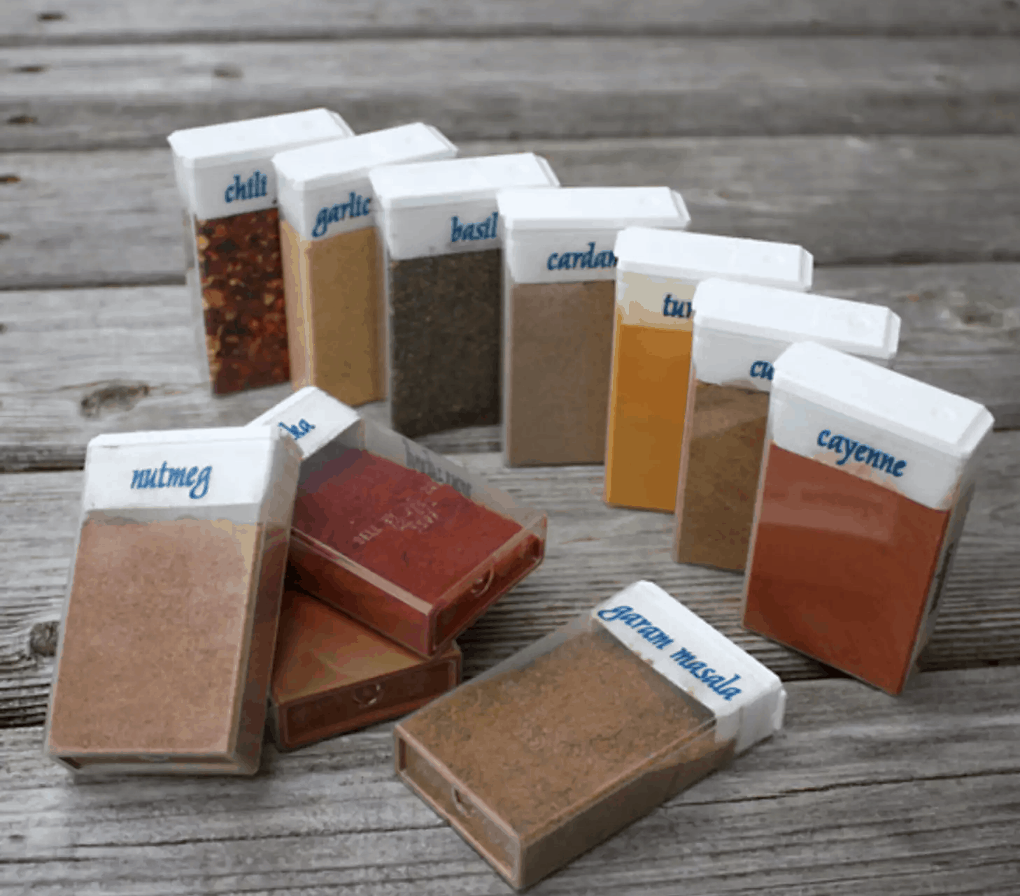 Tic tac container spice shakers