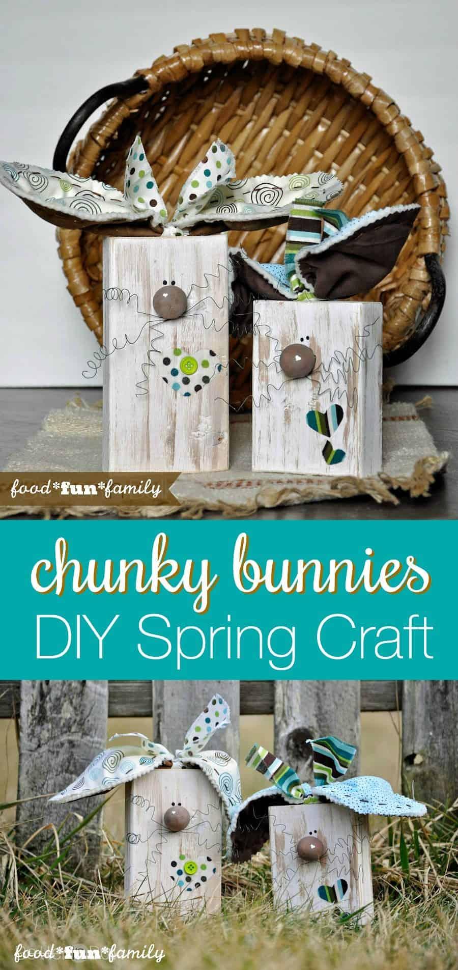 Wooden chunky bunnies