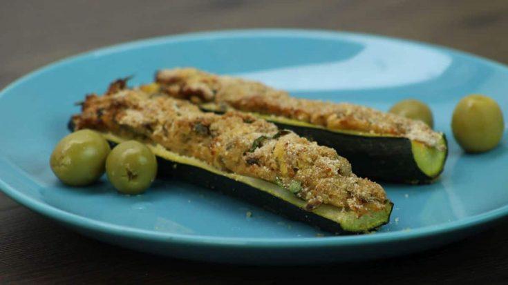 Zucchini stuffed with tuna recipe
