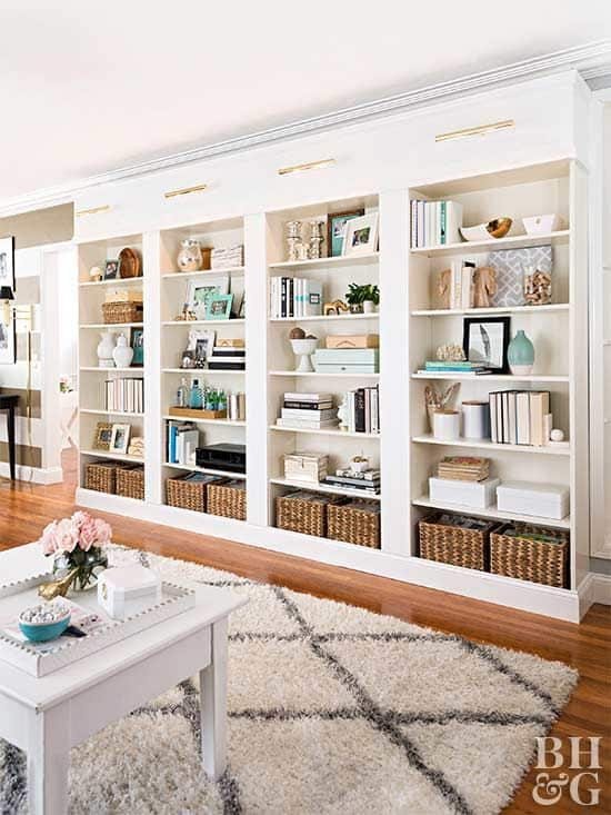 Diy library shelving