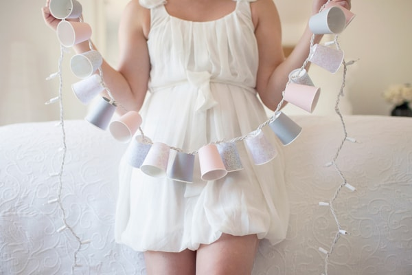 Diy paper cup string light