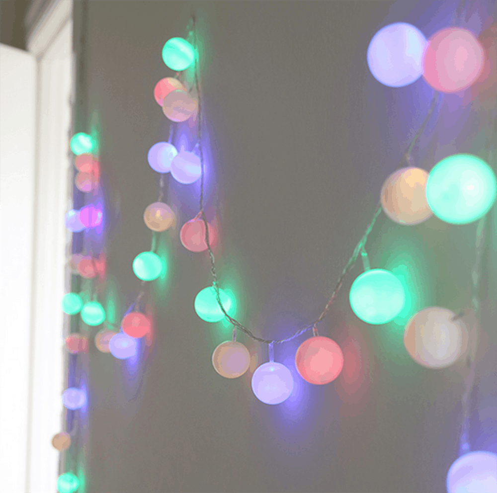 Diy ping pong ball string lights