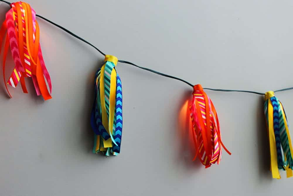 Diy ribbon tassel lights