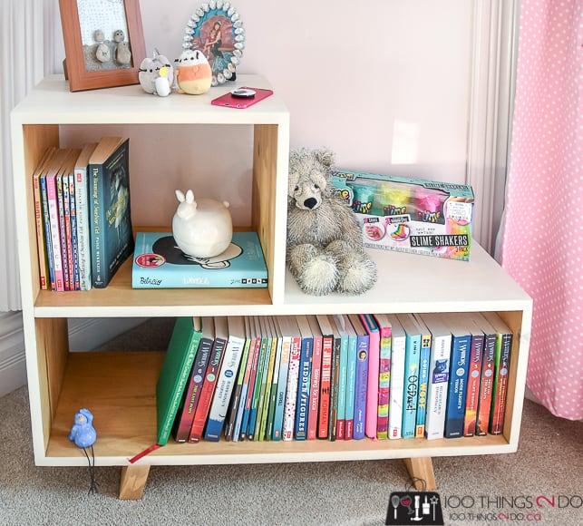 Diy side table bookshelf