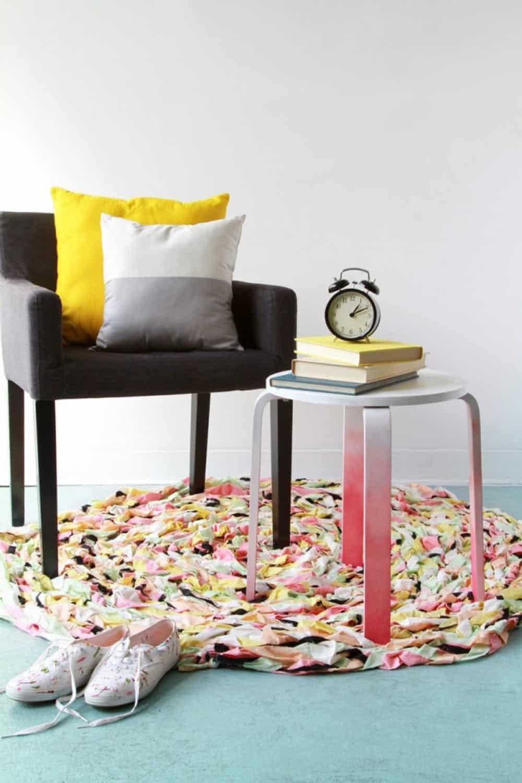 Diy spiralling rug