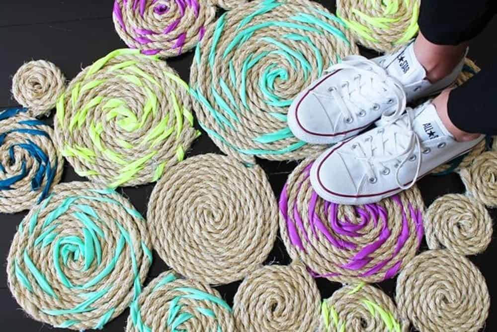 Diy twisted rope rug
