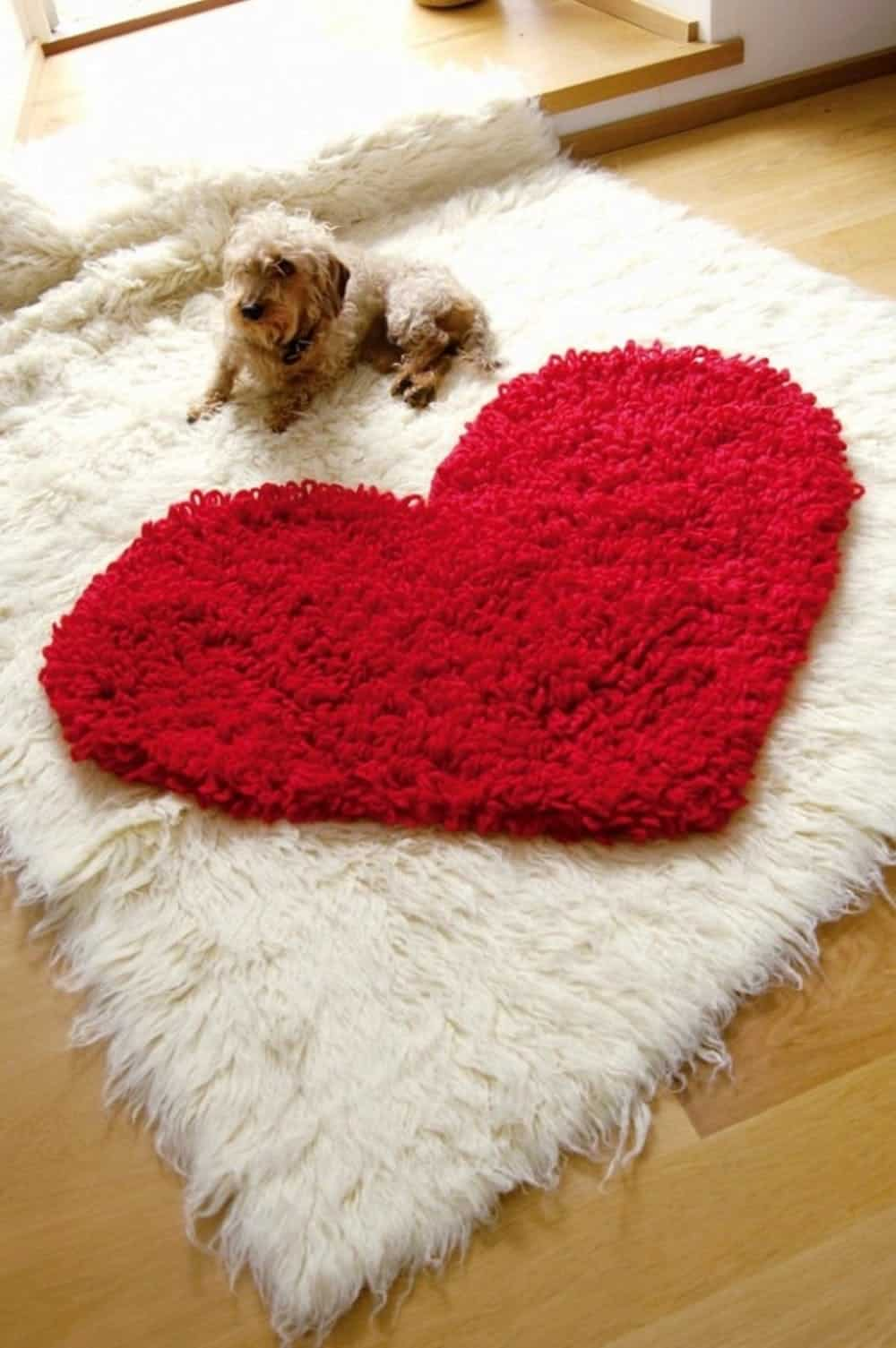 Heart crochet rug diy