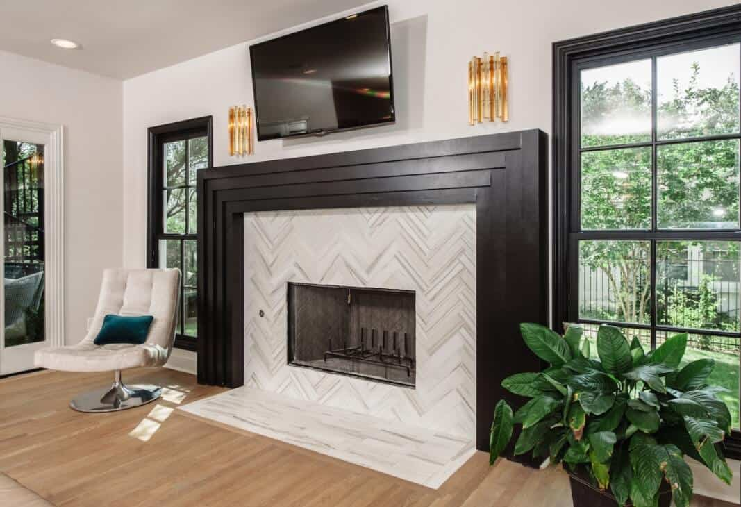 A beginner's guide to choosing and planning fireplace tiles