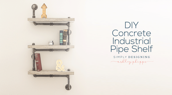 Angular concrete and pupe shelving