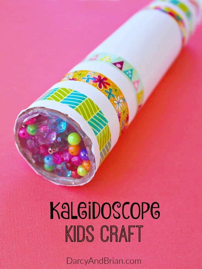 Bead kaleidoscope kids' craft