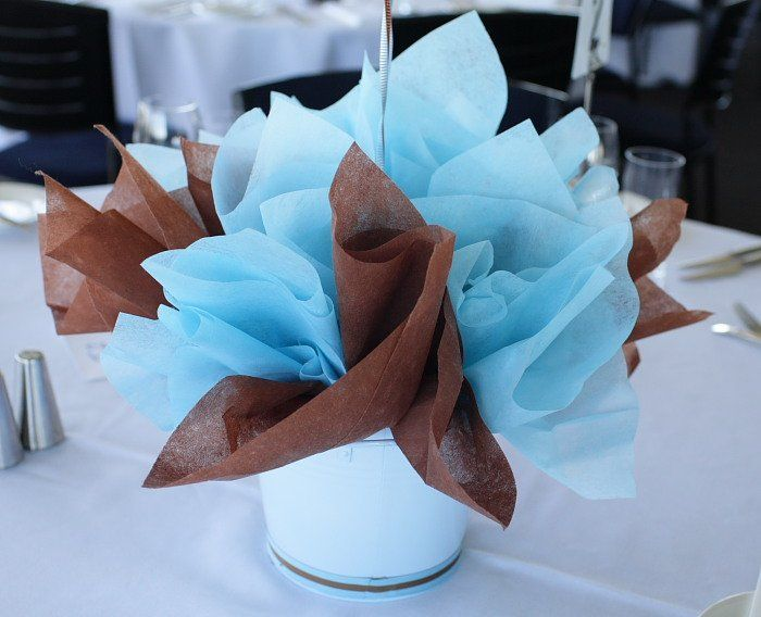Blue and brown decor for holiday occasions