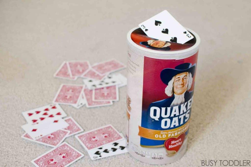 Card slot drop game