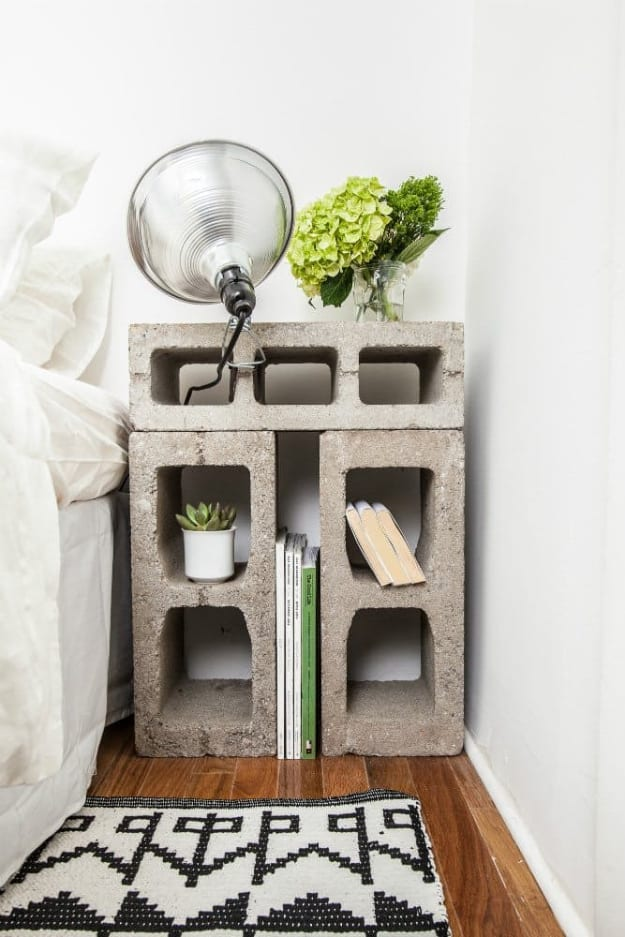 Cinder block furniture