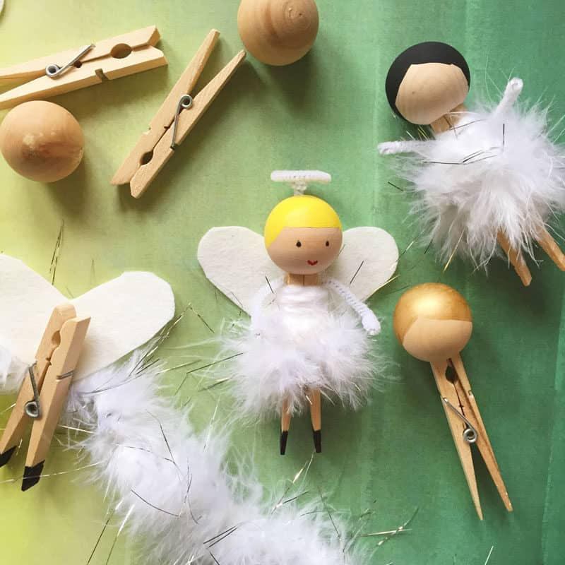 Clothespin angels