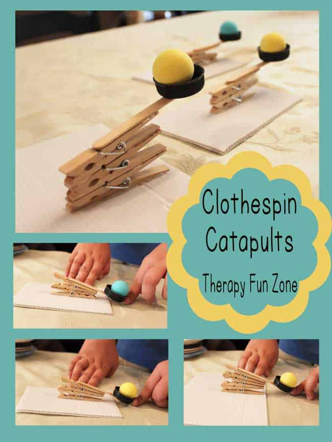 Clothespin catapults