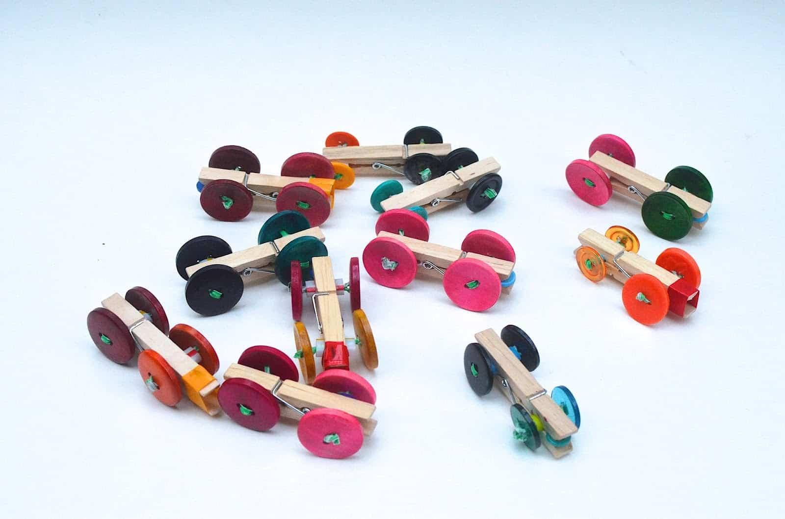 Clothespin race car