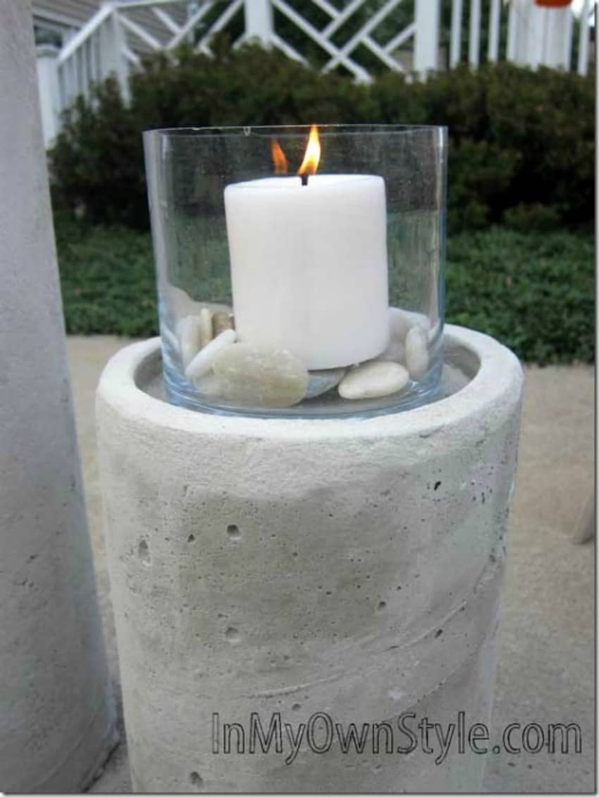 Concrete fire column fire pit diy