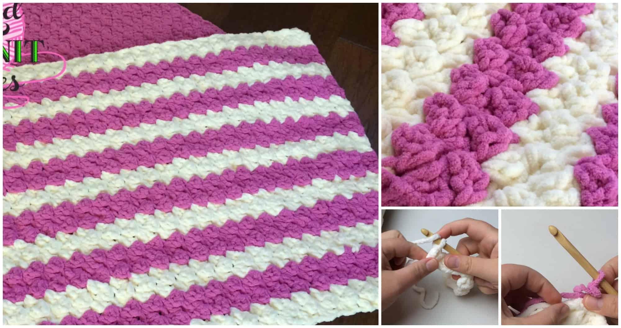 Crochet marshmallow baby blanket