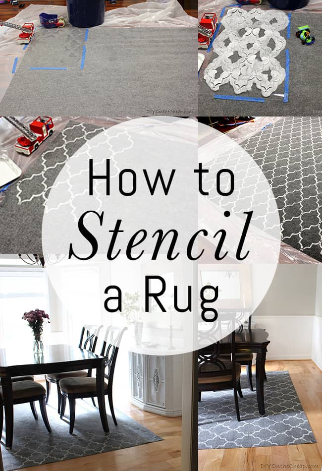 Custom stencilled area rug