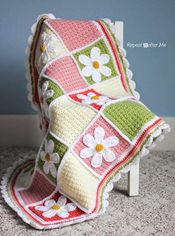 Cute daisy afghan