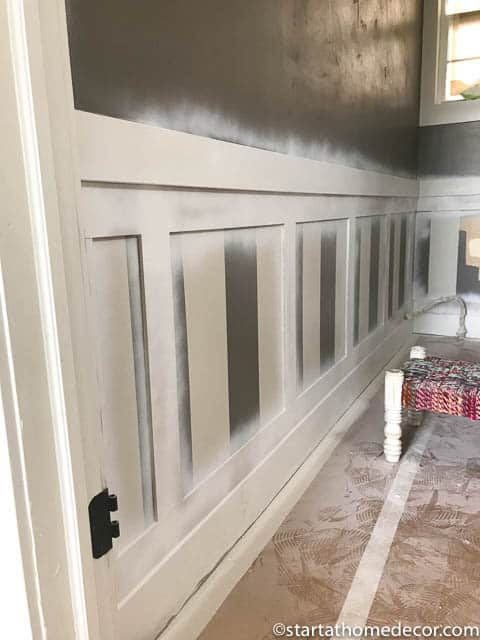 Diy bathroom wainscoting for under $50