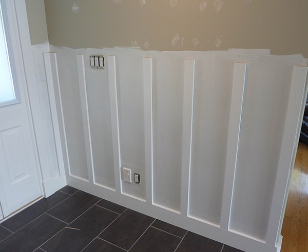 Diy board and batten wainscoting