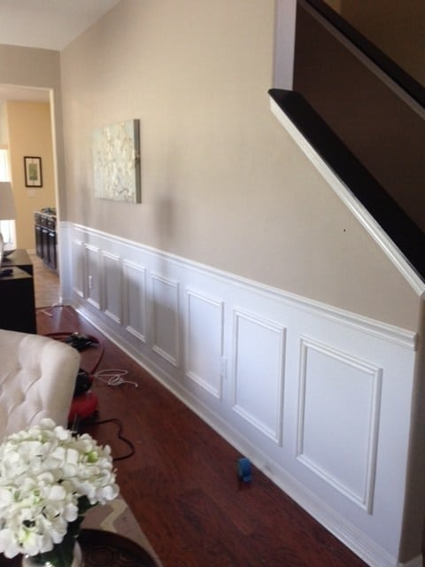 Diy faux wainscoting using chair rails