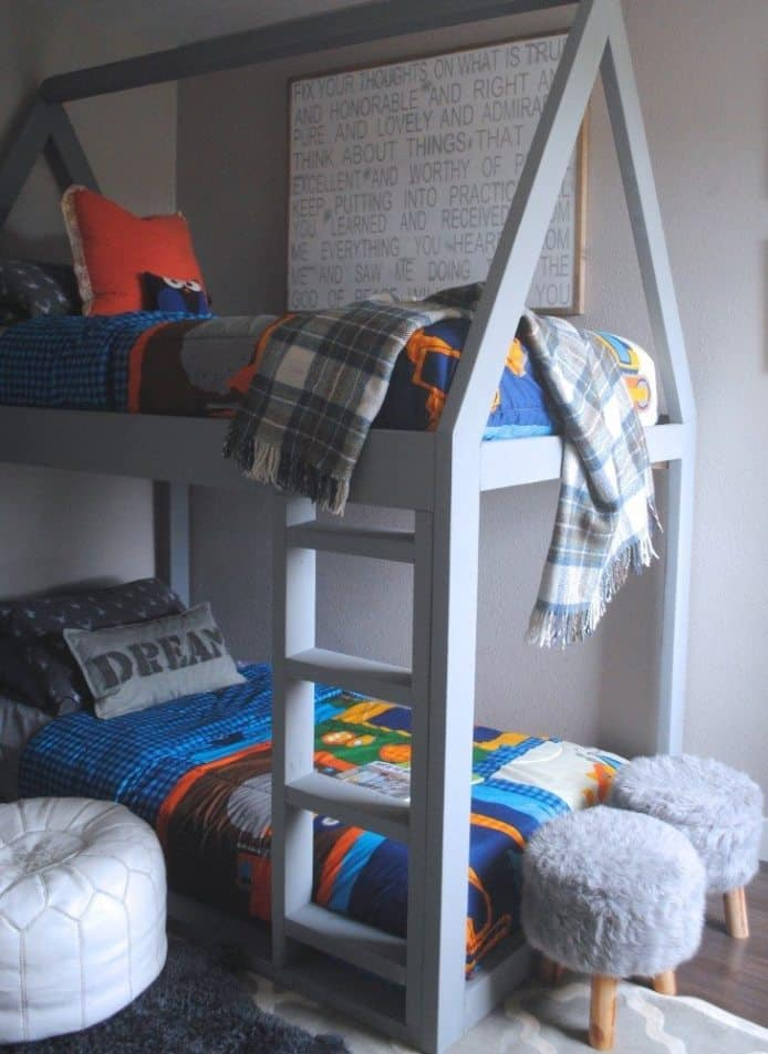 Diy house frame bunk bed