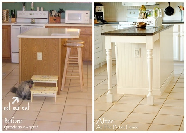 Diy kitchen island extension for seating