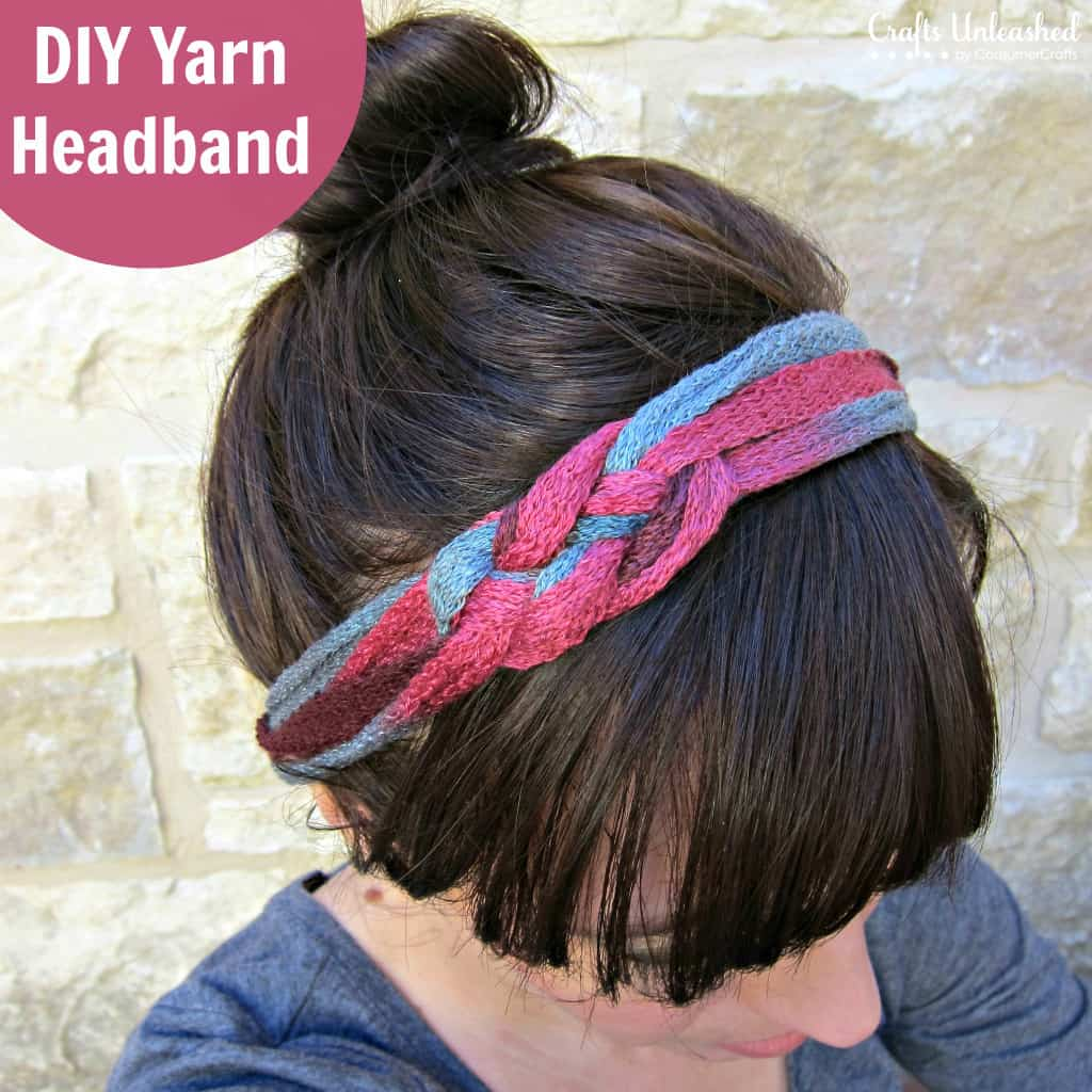 Diy knotted yarn headband