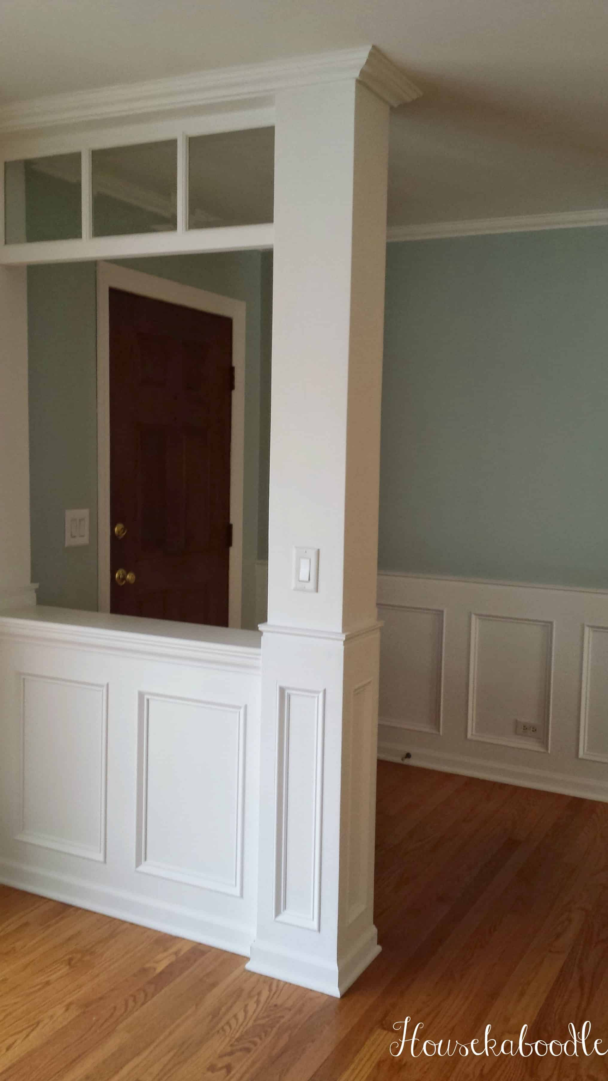 Diy recessed wainscoting