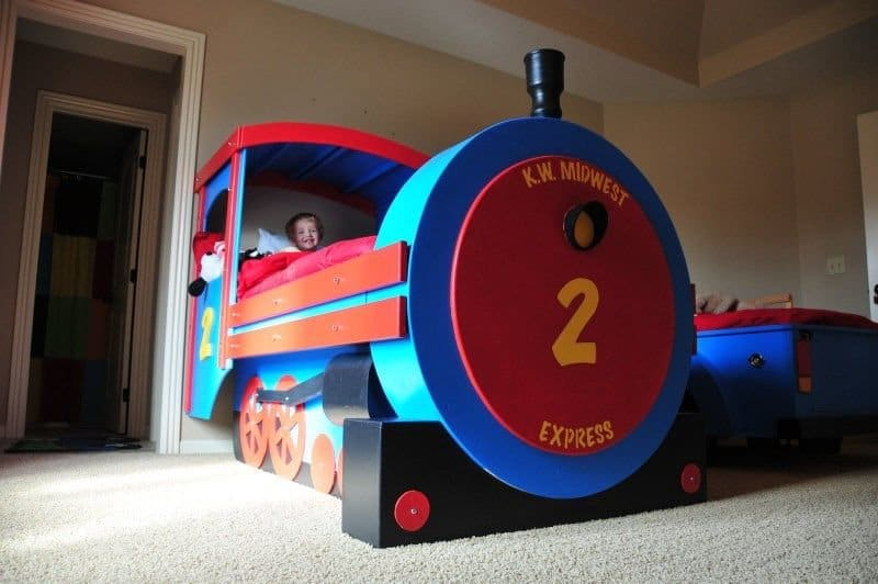 Diy train bed