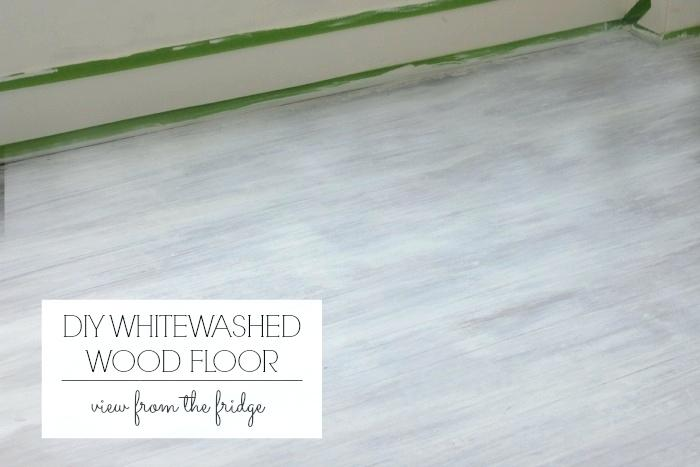 Diy whitewashed wood floor