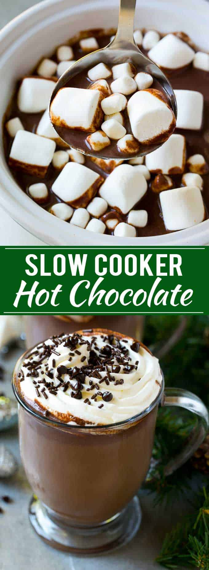 Decadent slow cooker hot chocolate