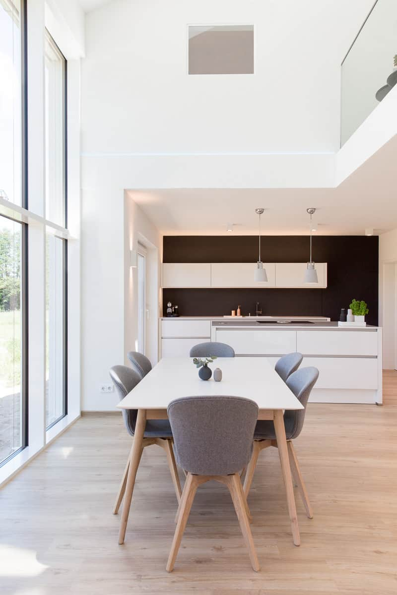 Dining tables with contrasting chairs