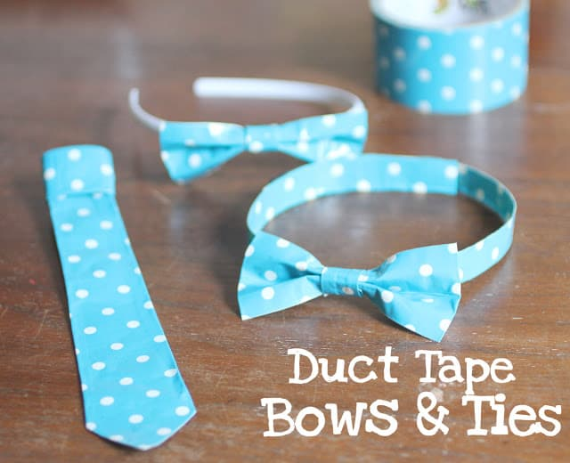 Duct tape bowties and neckties